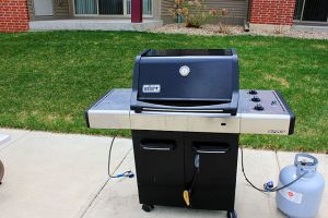 propane powered grill